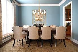 blue walls brown furniture. Blue Walls Brown Furniture Sleeper Sofa Reference For Traditional Dining Room With Large Table