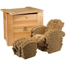 Corrugated Cardboard Furniture Little Beaver Limited Edition Cardboard Chair And Ottoman By
