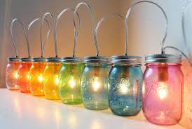 Decorations Using Mason Jars Accessories Appealing Image Of Decorative Rainbow Colorful Glass 98