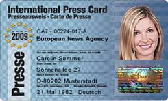 Presseausweis International Presseausweis Presseausweis International Presseausweis International