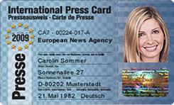 Presseausweis Presseausweis International International Presseausweis