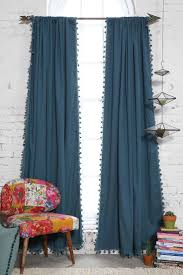 plum bow blackout pompom curtain good choice if you want blackout 79 per panel