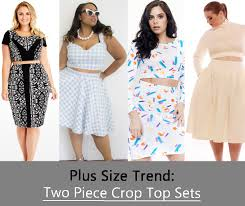 am i plus size plus size trend to try the two piece crop top set stylish curves