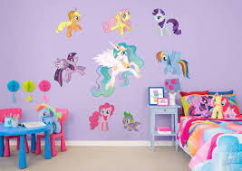 my little pony collection large officially licensed removable wall graphics fathead wall decal