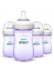 Avent Decorated Bottles Avent Bottle Natural 100oz 100 ml Purple Single Loose Pack 65
