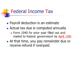 Estimate Payroll Deductions Managing Your Personal Finances Unit 1 Calculating Gross Pay