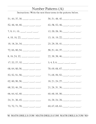 Fourth Grade Math Patterns Worksheets | Homeshealth.info