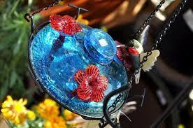 blown glass hummingbird feeder leaks