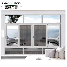 arched round design tempered glass aluminum sliding window for balcony