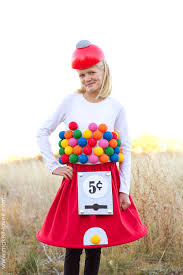 diy gumball machine costume a very low sew project via