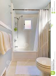 Small Blue Bathrooms Small Blue Bathroom With Light Grey Blue Stock Photo Image