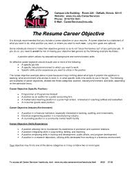 Generic Objective For Resume Example Objective In Resume On A For Customer Service Classy Ideas 55