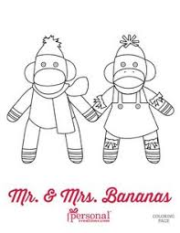 Sock Monkey Coloring Pages Printable Print It To The Size