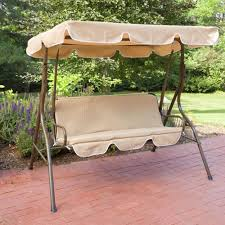 2 person covered patio swing metal frame