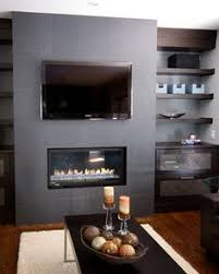Small Picture contemporary gas fireplace with TV above Google Search April