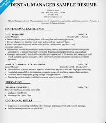 Dental Office Manager Resume Sample - http://getresumetemplate.info/3682/