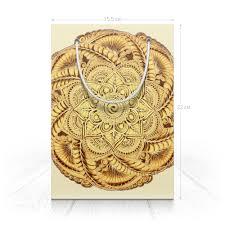 Пакет 15.5х22х5cм Золотая <b>мандала</b> (для подарка) #2731203 от ...