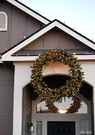 large outdoor lighted wreaths balsam hill wreath with lights