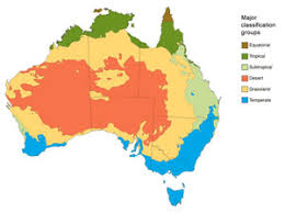 map of major climatic zones