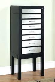 standing jewelry armoire black with mirror mirrored drawer fronts target standing jewelry armoire lock floor mirror
