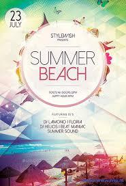 Beach Flyer 70 Best Summer Beach Flyer Print Templates 2018 Frip In
