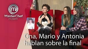 Antonia, Mario y Ona hablan sobre la final de Masterchef Celebrity 3