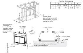 framing dimensions dakota gas fireplace