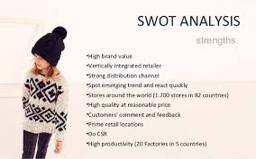 zara study case swot analysis