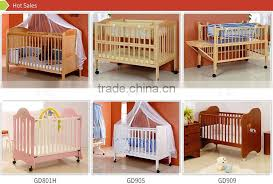 american styled new born baby bed solid wooden crib simple design 4 in
