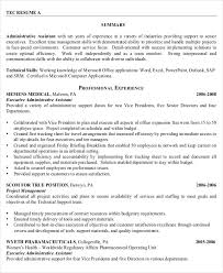 senior executive resume senior administrative assistant resume by profession1 10 templates