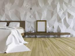3ds Bild Von Loft Stil Schlafzimmer Gemacht Rissige Betonwand