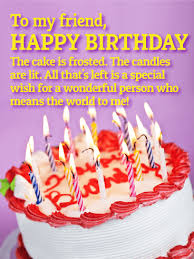 happy birthday cakes with candles for best friend. Unique Birthday You Mean The World To Me  Happy Birthday Wishes Card For Friends Cakes With Candles For Best Friend