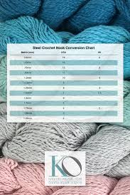 Steel Crochet Hook Conversion Chart Yarn Weight Knitting Needle And Crochet Hook Conversion
