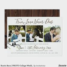 collage wedding invitations rustic barn photo collage wedding invitation trending wedding