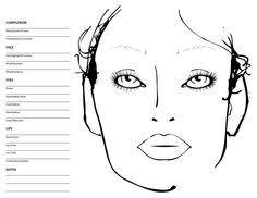 Blank Makeup Face Chart Template | Beauty | Pinterest | Makeup Face ...