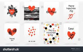 Bundle Valentines Day Cards Wedding Invitations Stock Vector