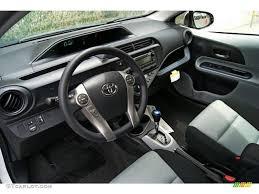 Light Blue Gray/Black Interior 2013 Toyota Prius c Hybrid Two ...