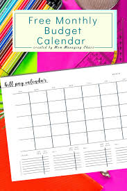 Free Printable Monthly Budget Free Printable Monthly Bill Payment Log A Bills To Pay
