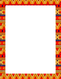 Small Picture Page border featuring colorful tribal patterns Free downloads at