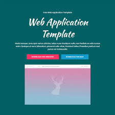 free application templates free html bootstrap web application template
