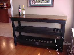 wine rack bar table. Custom Wine Bar Buffet Table Coffee For Christmas Dark Stained Maple Top Dual Storage Shelves Plan Rack