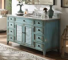 distressed blue furniture. 60 Inch Bathroom Vanity Cottage Beach Style Distressed Blue Color (60\ Furniture