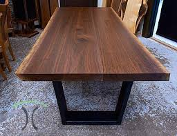 live edge wide plank dining tables