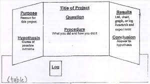 Science Experiment Chart Science Fair Basic Steps