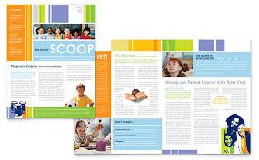Learning Center Elementary School Newsletter Template Design