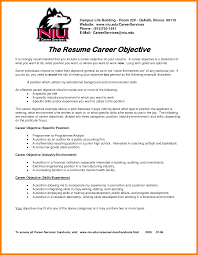 It Resume Objectives Samples 60 career objectives resume example letter adress 41