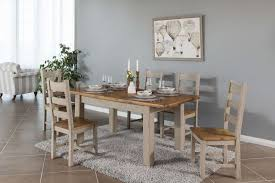 Image Rustic Country Lifestyle Image Showing The Extendable Large Taupe Country Cottage Dining Table Ez Living Furniture Taupe Oak Large Extendable Dining Table Country Cottage Ez