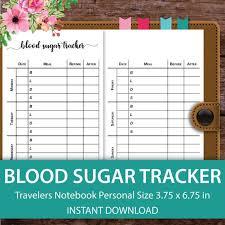 Tracking Blood Sugar Levels Blood Sugar Tracker Blood Pressure Blood Glucose Log Blood Etsy