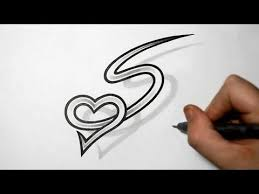 Letters For Tattoos Template Adorable Letter S And Heart Combined Tattoo Design Ideas For Initials