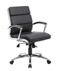 White Rolling Chair Caressoftplus Executive Rolling Chair Mid Back 9476 Bkbaof Bay